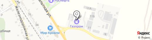 АЗС Газпром на карте Винсад