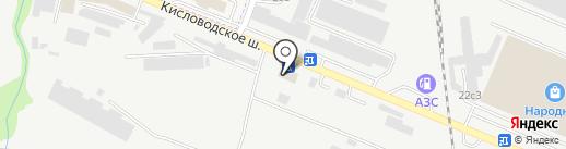 Гефест на карте Пятигорска