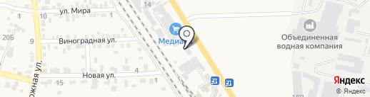 АБМ на карте Винсад
