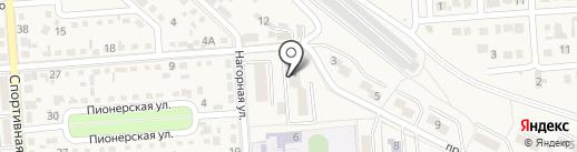 Уголовно-исполнительная инспекция УФСИН по г. Лермонтову на карте Лермонтова