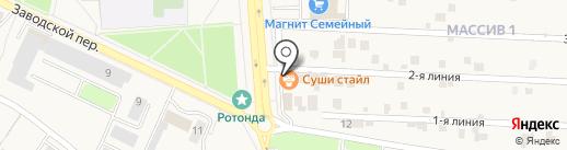 Томси на карте Лермонтова