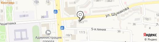 Старухин О.Е. на карте Лермонтова