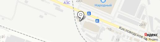 Оптовый склад на карте Пятигорска
