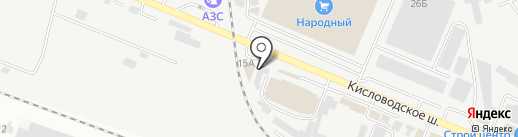 Восторг на карте Пятигорска