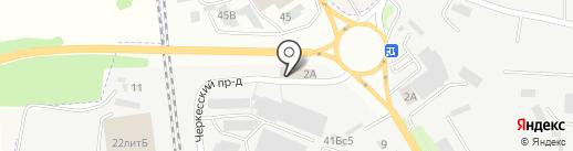 Магазин товаров для рукоделия на карте Пятигорска