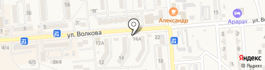 Магазин фруктов и овощей на карте Лермонтова