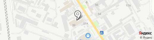 Магазин мягкой мебели на карте Пятигорска