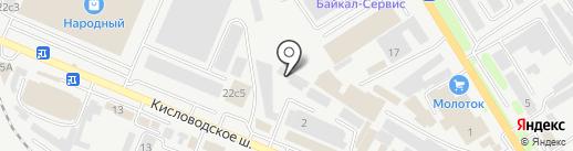 Евровагонка на карте Пятигорска