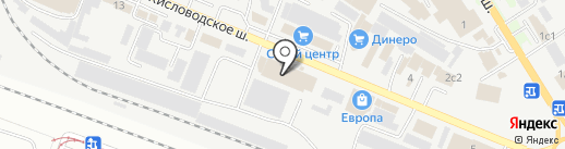 Стройхимторг на карте Пятигорска