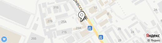Авангард на карте Пятигорска