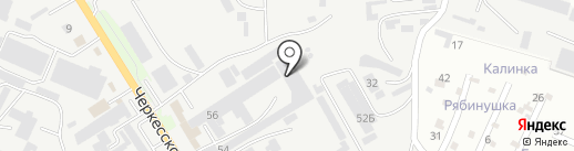 Радуга-СК на карте Пятигорска