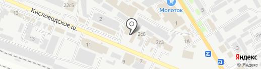 Магазин архитектурного декора на карте Пятигорска