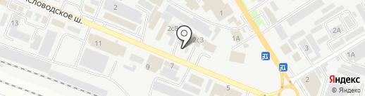 Интерсклад-КМВ на карте Пятигорска