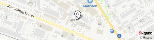 Станция углекислоты на карте Пятигорска