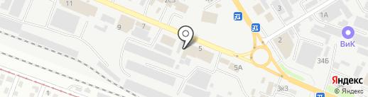 Тепломир на карте Пятигорска