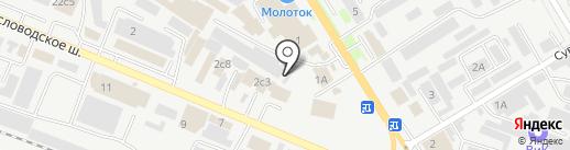 Экотек на карте Пятигорска
