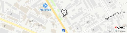 Магазин отделочных материалов на карте Пятигорска