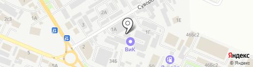 Русское поле на карте Пятигорска