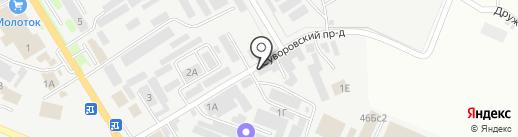 Победит на карте Пятигорска