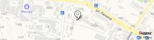 На Автоколонне на карте Железноводска