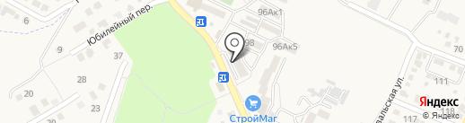 Фрея на карте Железноводска