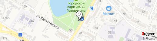 Штрафстоянка на карте Железноводска