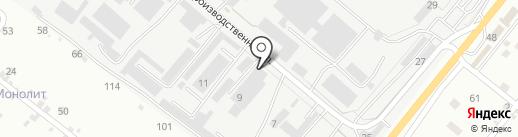 Мион на карте Пятигорска