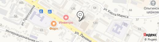 Эльбрус на карте Железноводска