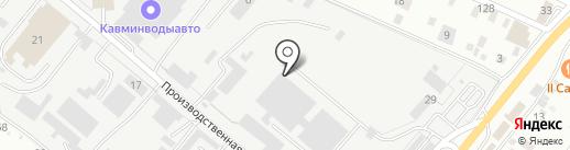Шиномонтажная мастерская для грузовых автомобилей на карте Пятигорска
