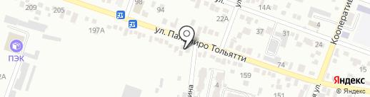 Магазин автозапчастей для УАЗ на карте Пятигорска
