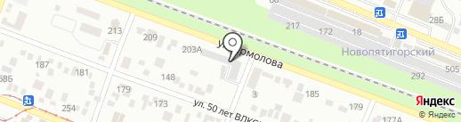 Этикет на карте Пятигорска