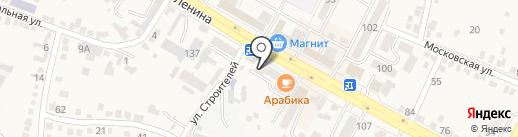 Малахит на карте Железноводска