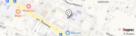 Средняя общеобразовательная школа №10 на карте Железноводска