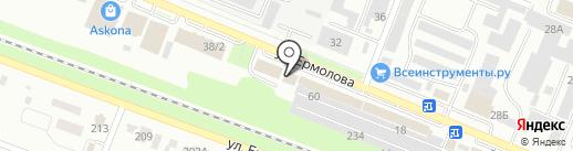 Медиана на карте Пятигорска