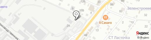 АЗС на карте Пятигорска