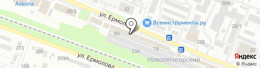 Вернисаж на карте Пятигорска