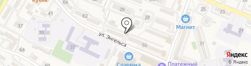 Сачино на карте Железноводска