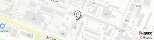 Продовольственный магазин на карте Пятигорска