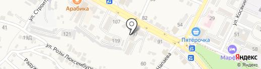 Адвокатская контора №1 на карте Железноводска