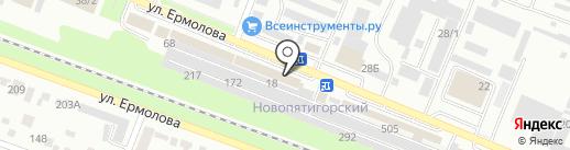 Юкас на карте Пятигорска