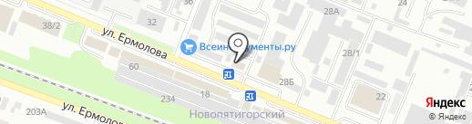 КМВ Сити на карте Пятигорска