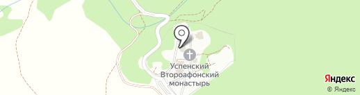 Успенский Второафонский Бештаугорский мужской монастырь на карте Пятигорска