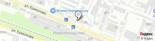 Студия натяжных потолков на карте Пятигорска