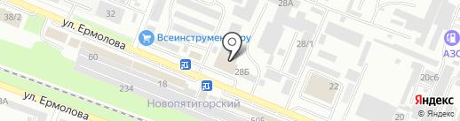РАТЭК на карте Пятигорска