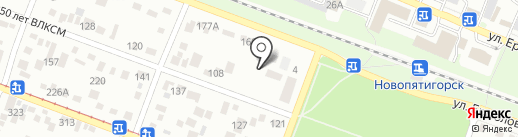 Детский сад №11 на карте Пятигорска