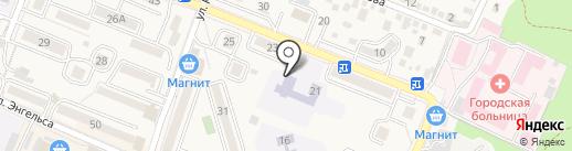 Средняя общеобразовательная школа №3 на карте Железноводска