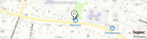 Кафе-холл на карте Пятигорска