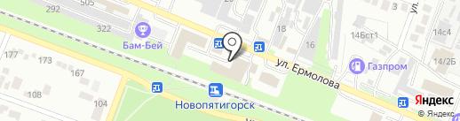Мария на карте Пятигорска