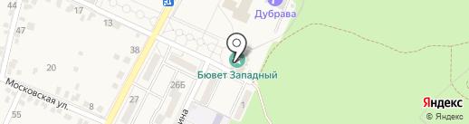 Западный на карте Железноводска