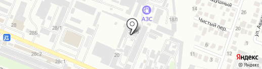 Магазин лакокрасочных материалов для авторемонта на карте Пятигорска